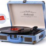 Tourne-Disque Retro 33/45/78 TR/Min avec des Haut-parleurs Stéréo Intégrés